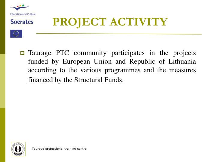 PROJECT ACTIVITY