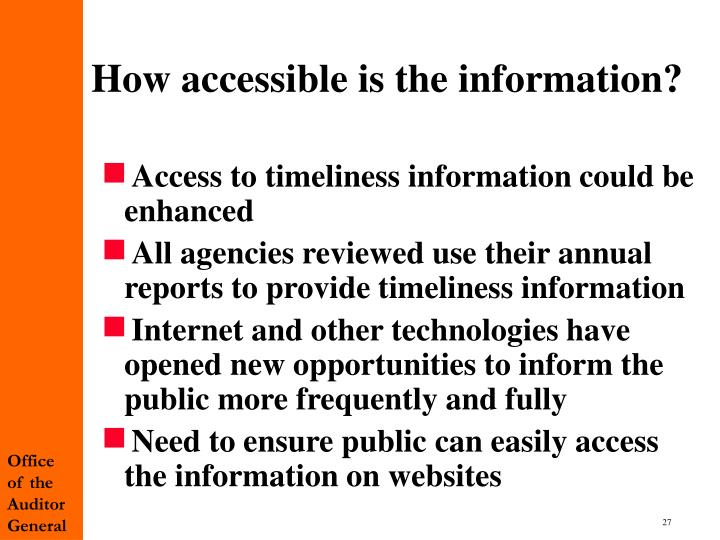 How accessible is the information?