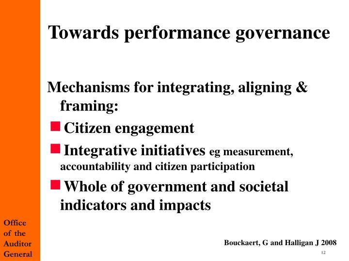 Towards performance governance