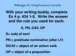 bellringer 3 using pronouns correctly