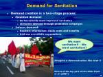 demand for sanitation