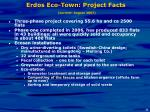 erdos eco town project facts current august 2007