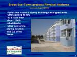 erdos eco town project physical features current august 2007