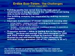 erdos eco town the challenges current august 2007