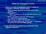 how to compare costs