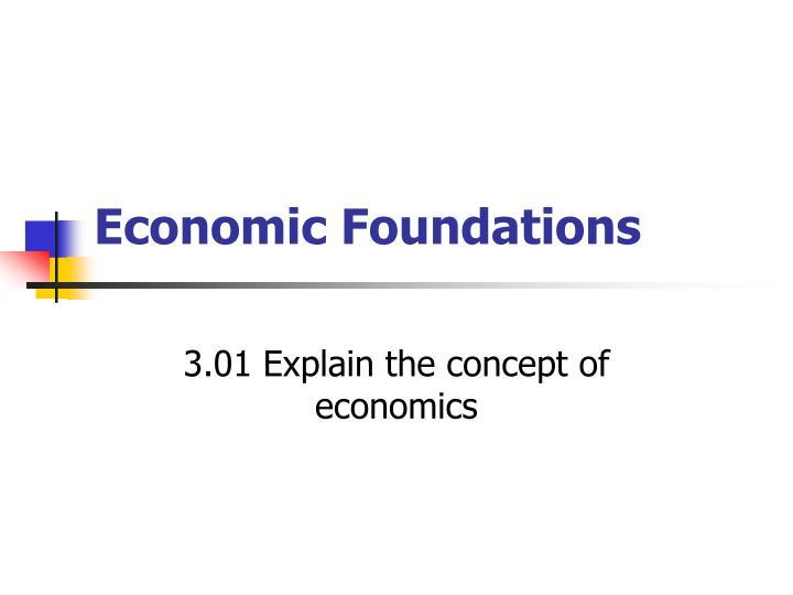 economic foundations n.