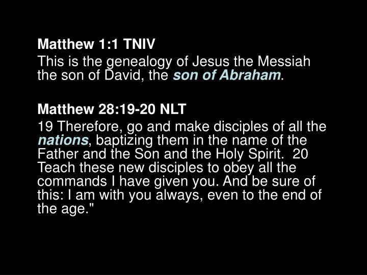 Matthew 1:1 TNIV