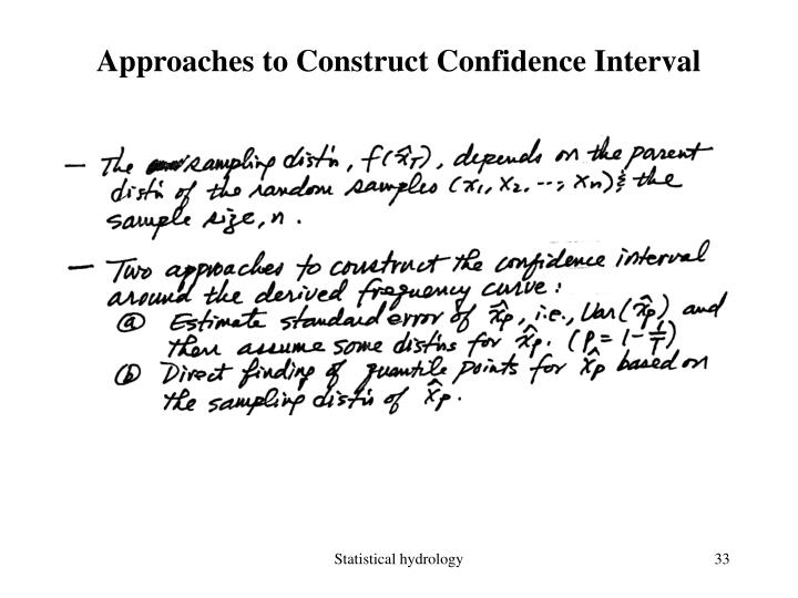 Approaches to Construct Confidence Interval
