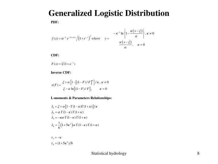 Generalized Logistic Distribution