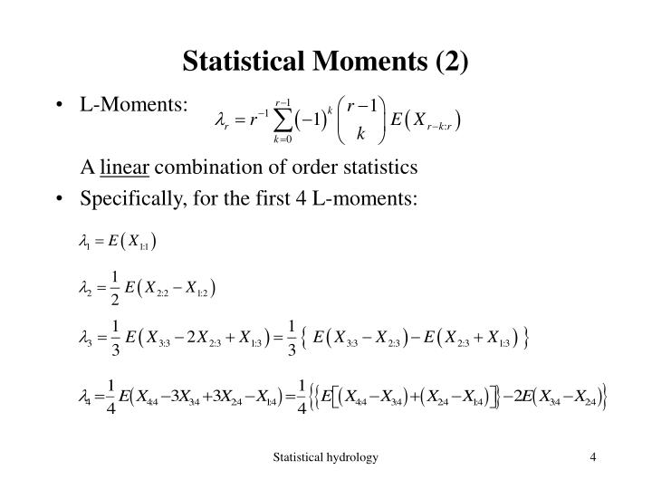 Statistical Moments (2)