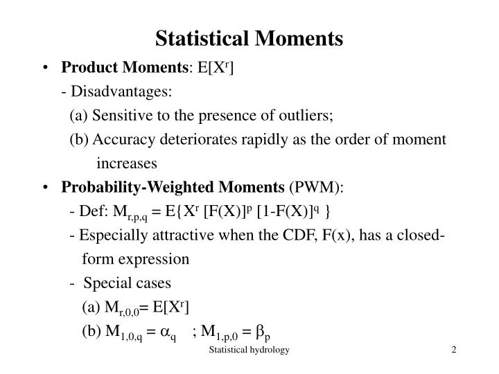 Statistical moments