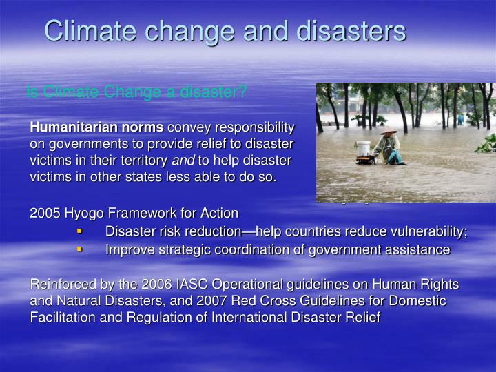 Climate change and disasters
