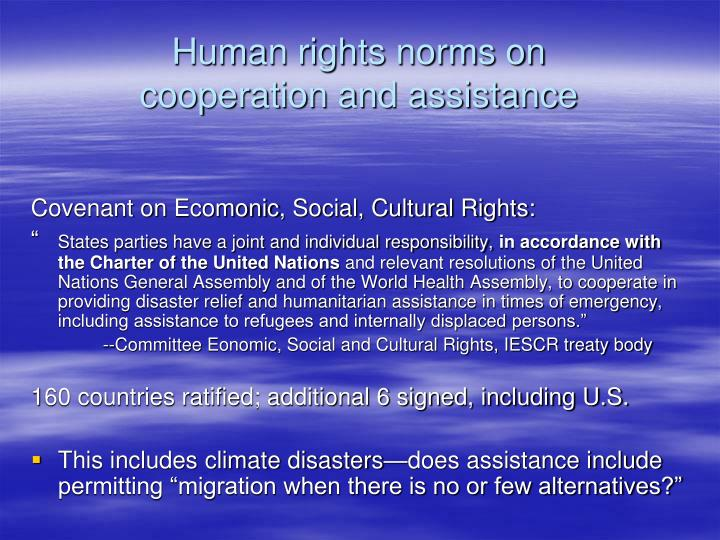 Human rights norms on