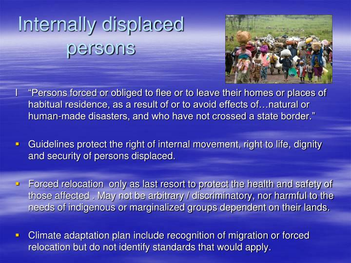 Internally displaced