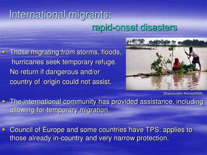 International migrants: