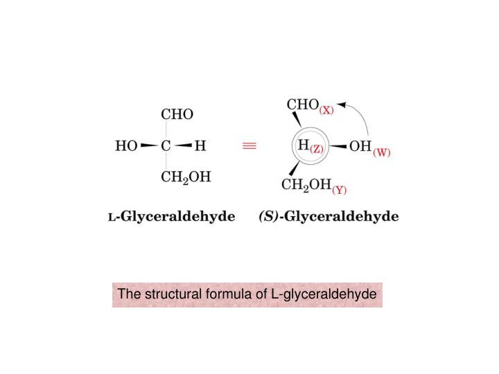 The structural formula of l glyceraldehyde