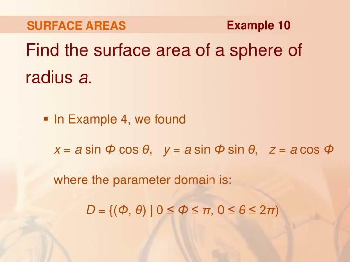 SURFACE AREAS