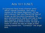 acts 10 1 3 nlt