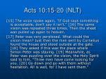 acts 10 15 20 nlt