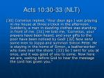acts 10 30 33 nlt