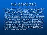 acts 10 34 38 nlt