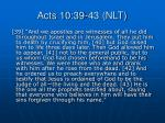 acts 10 39 43 nlt