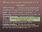 what is the simple message of the gospel