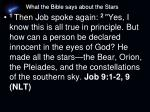 what the bible says about the stars