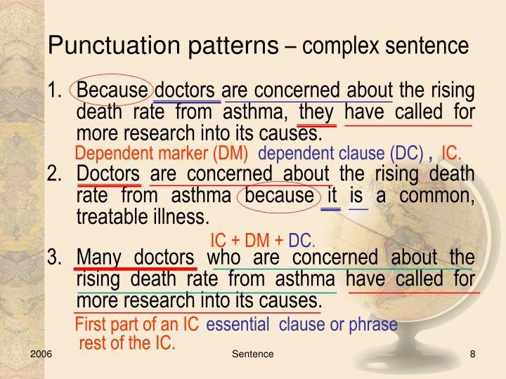 Punctuation patterns