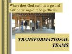 transformational teams