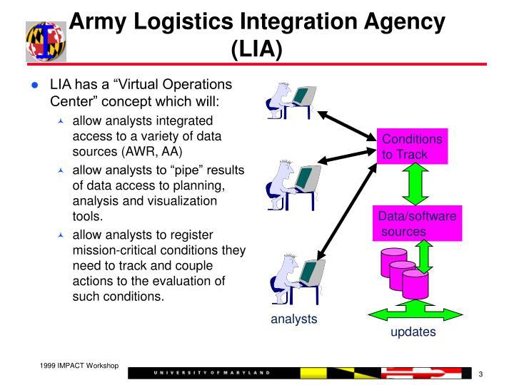 Army logistics integration agency lia
