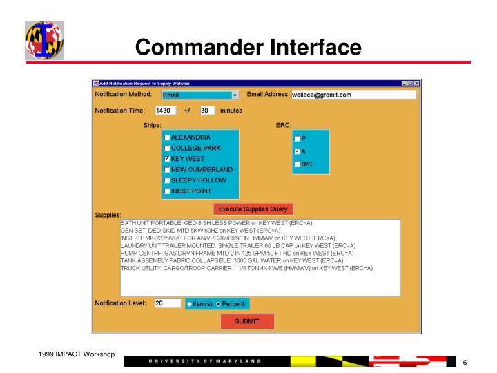 Commander Interface