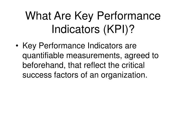 What are key performance indicators kpi
