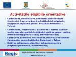 activit ile eligibile orientative