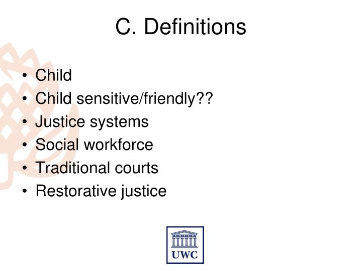C. Definitions