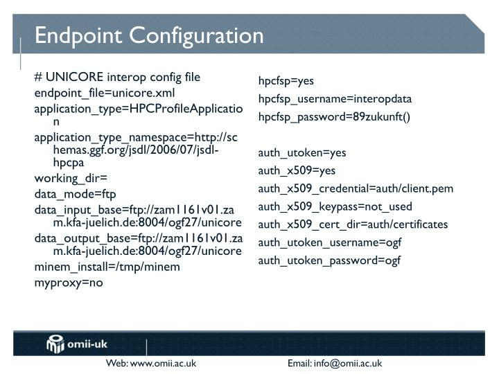 Endpoint Configuration