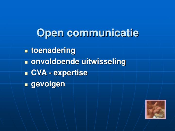 Open communicatie