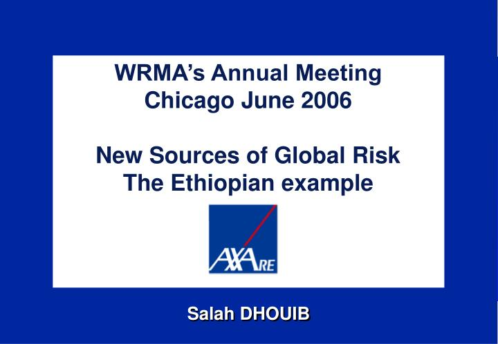 WRMA's Annual Meeting