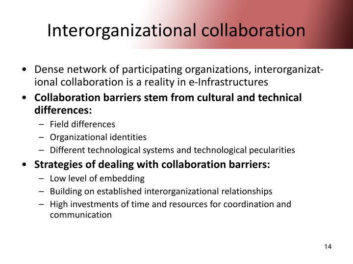 Interorganizational collaboration