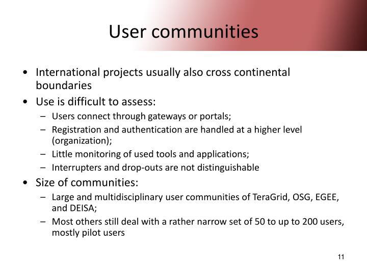 User communities