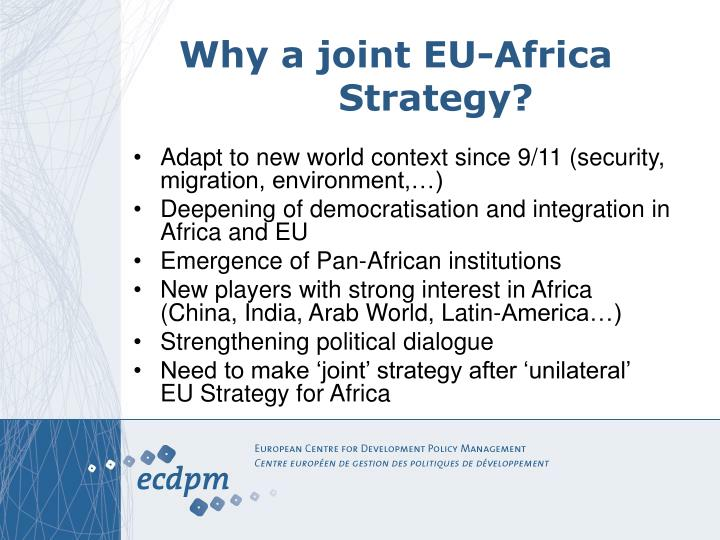Why a joint EU-Africa Strategy?