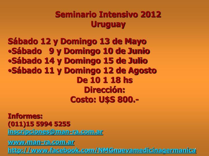 Seminario Intensivo 2012