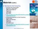 materials cont