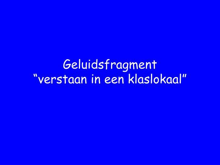 Geluidsfragment