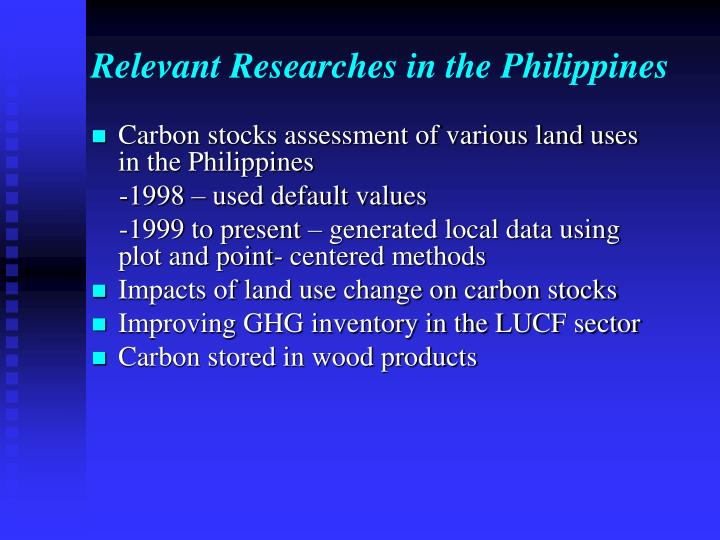 Relevant Researches in the Philippines
