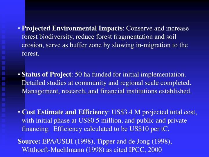 Projected Environmental Impacts