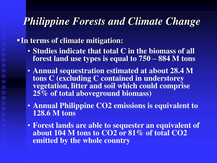 Philippine Forests and Climate Change