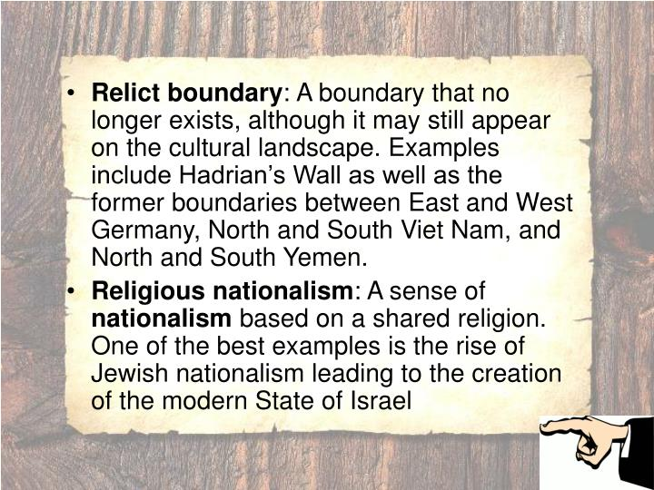 Relict boundary