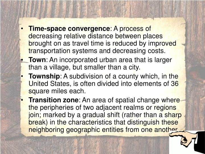 Time-space convergence