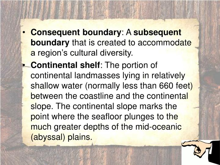 Consequent boundary